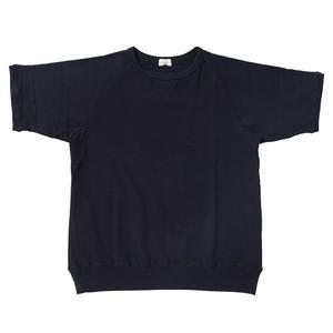 ※アウトレット品 Women's 裏毛半袖スウェットシャツ Navy 0サイズ №53