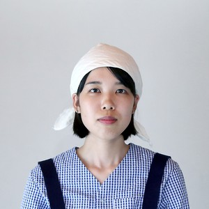 【夏が来る!】G-04 泉州綿紗 作業頭巾 生成