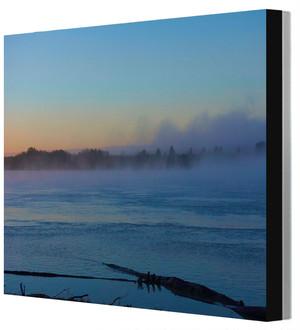 四つ切りワイド写真パネル アラスカ・ユーコン川 山田龍太撮影 木製パネル張り 20160817064314