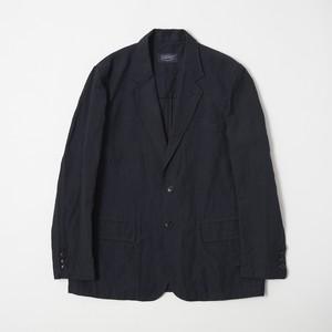 リネン/ウール ジャケット ネイビー