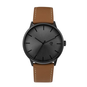 KHORSHID FUNK METAL【CHPO】 Swedish metal dial. Funky brown vegan leather strap