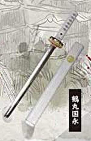 鶴丸国永 <ガチャガチャ>外せる刀身!ダイキャスト製!刀剣マスコット2