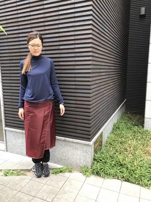 【andwander 】sil skirt women's