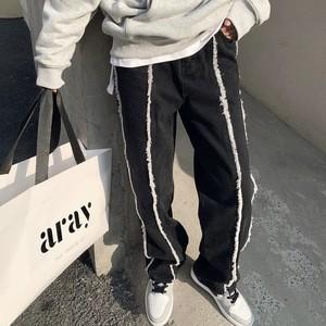 line wide pants