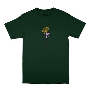 PASS PORT / FLORAL DANCER TEE -GREEN-