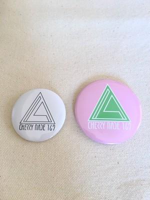 3角ロゴ バッチセット (ホワイト × ピンク)