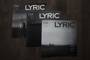 LYRIC 02 & 03 & 04【3冊セット】