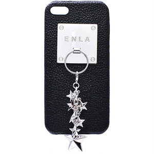 enchanted.LA CHARM HOLDER PLATE LEATHER COVER CASE #SPARKLE STARS