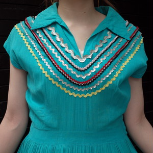 50's Mexican  tiered dress/50's メキシカン ティアードワンピース