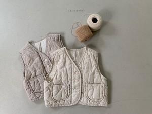 『翌朝発送』hug vest〈la camel〉