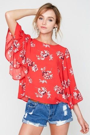 Floral Tops(LA Brand)