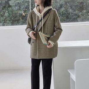 韓国ファッション おしゃれ 着痩せ パーカー 新作 ブレザー パンツ 3点セット セットアップ