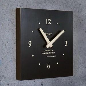 壁掛け時計 スクエア 黒
