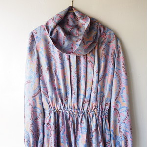 marble paisley art dress