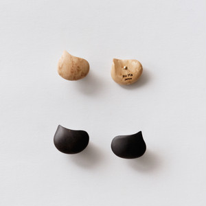 """EBISU"" Wood stud earrings /size: S"