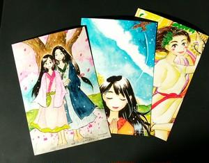 日本の女神 ポストカード3枚セット