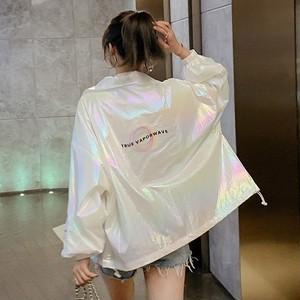 【アウター】原宿風長袖ショート丈折り襟ジッパースパンコールジャケット27383228