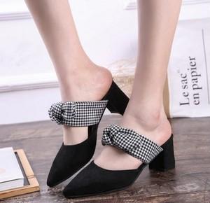 【sandal】Bow  fashion  2018 spring new Mule