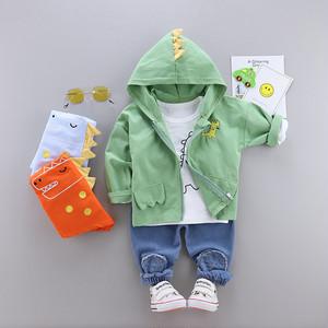 【セットアップ】ファッション子供服カジュアル コットン   長袖 三点セット24838015