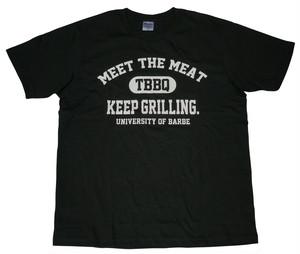 バーべカレッジTシャツ(ブラック)