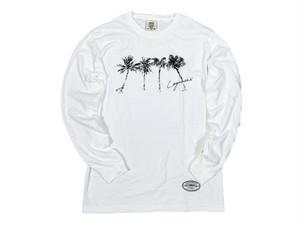 【brush palm tree long sleeve】/ white