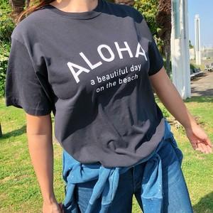 ALOHA Tee - Vintage black