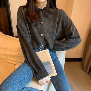 【アウター】韓国風ゆったり合わせやすいレトロレースショートファッションコート