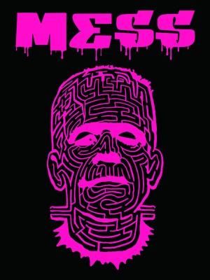 THE MAZE ブラックTシャツ ピンクオレンジ フォントG
