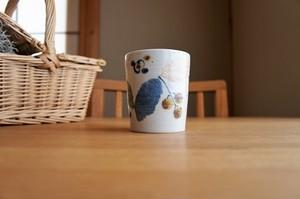 砥部焼/フリーカップ/木の葉/森陶房
