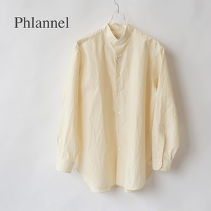 Phlannel/フランネル・Cotton Silk Faille Band Collar Shirt