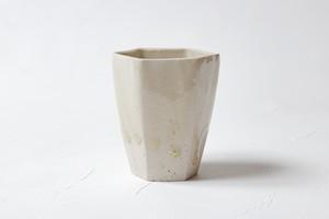 [田中 大喜]灰釉 六角湯呑