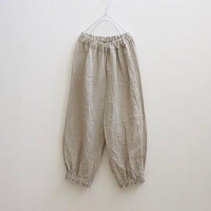 リネン*裾絞りパンツ*生成り