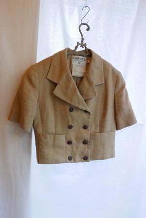 CHANEL Linen Short Jacket