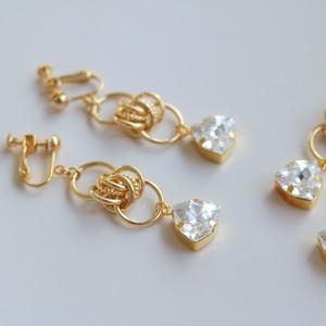 hexagon swarovsk pierced/earrigs