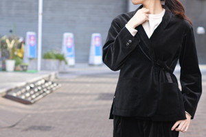 【Phlannèl】Cotton Velveteen Shawl Collar Jacket(Women's)