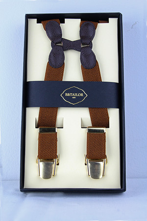 B&Tailor Suspender -Brown サスペンダー