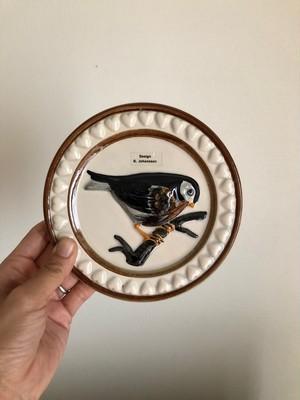北欧 スウェーデン DECO 鳥の陶板 ヴィンテージ