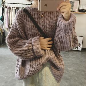オーバーサイズリブ編みセーター1011-200914016