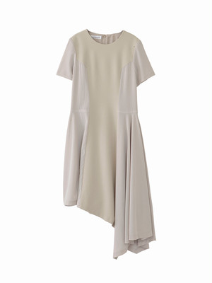 Handkerchief dress  / beige / S16DR07