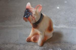 "②Antique Chalk Ware ""French Bulldog"""