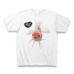 宙を舞う熱帯魚Tシャツ(ポイント・オレンジ) - design by AQUA MONO