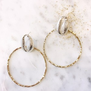 shell hoop earring