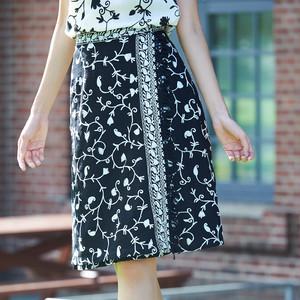 シロクロ巻きスカート(全2色)