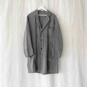 "FRANCE 60s〜vintage""Au MOLINEL""black chambray atelier coat/shop coat"