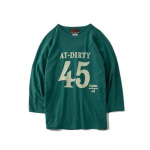 "AT-DIRTY(アットダーティー) / ""45 3/4 SLEEVE TEE"" (GREEN)"