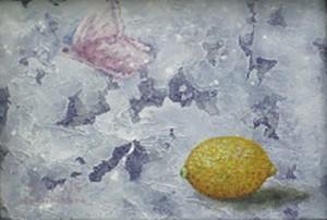 再入荷希望の方ご相談下さい。     上木原 健二「1つのレモンと1つの蝶、あるいは3つの自画像」