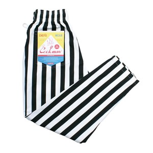 COOKMAN CHEFPANTS 「Wide stripe」 Black