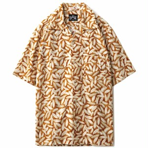 DRESS HIPPY(ドレスヒッピー)/FETHER S/S USA SHIRT (CAMEL)