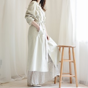 design trench long coat / mint green