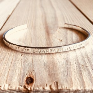 Message bangle   Silver